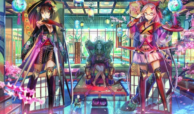 anime, girls, город, size, pinterest,