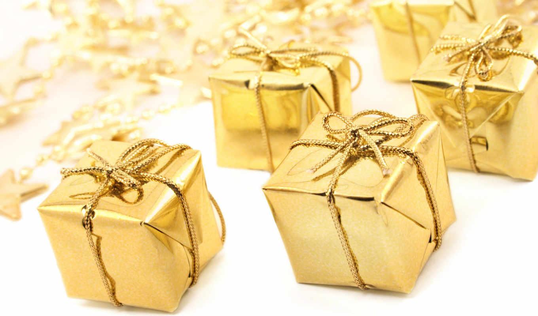 christmas, new, year, подарки, праздник, лента, подарок, golden, background,