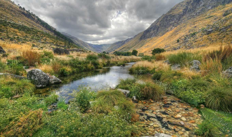 вода, пейзаж, природа, vale, glaciar, zezere,