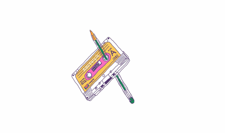 касета, карандаш, ситуация, rodrigo, ferreira, иллюстратор,
