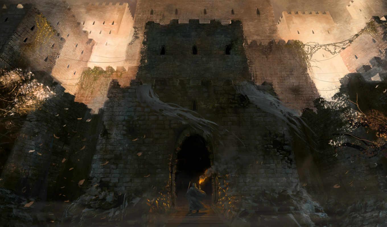 fantasy, замки, castle, путник, world,