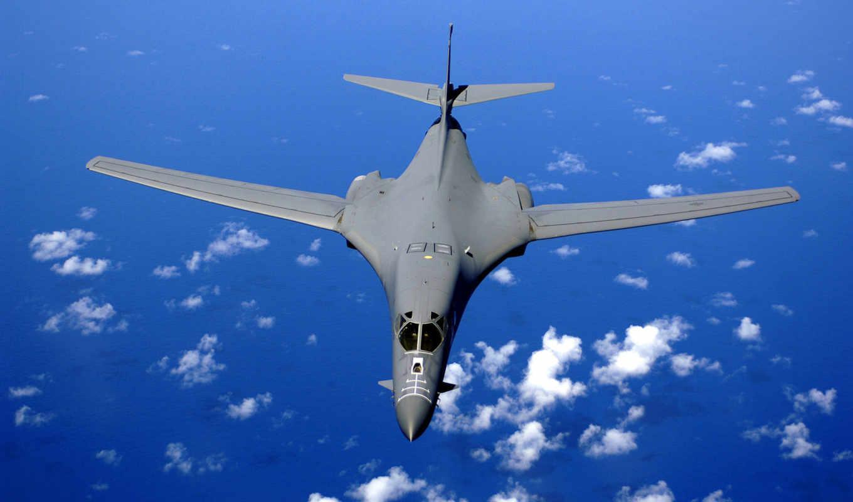 вода, ракетоносец, картинка, rockwell, бомбардировщик, стратегический, lancer, сверхзвуковой,