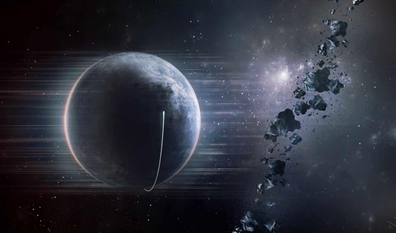 планета, астероиды, звезды, космос, spaceship,