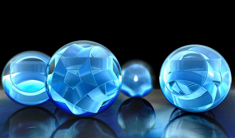 шары, отражение, объемные, голубой, объем, duvar, kağıtları, ленты, сборник, mix, masaüstü, turbobit, www,