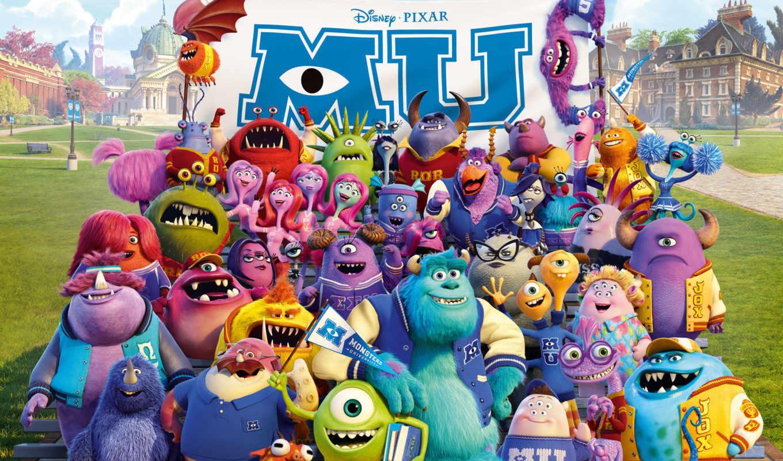 monsters, university, монстров, inc, fondos, more, pantalla,