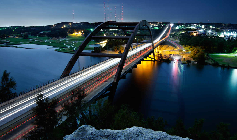 мост, pennybacker, austin, texas,