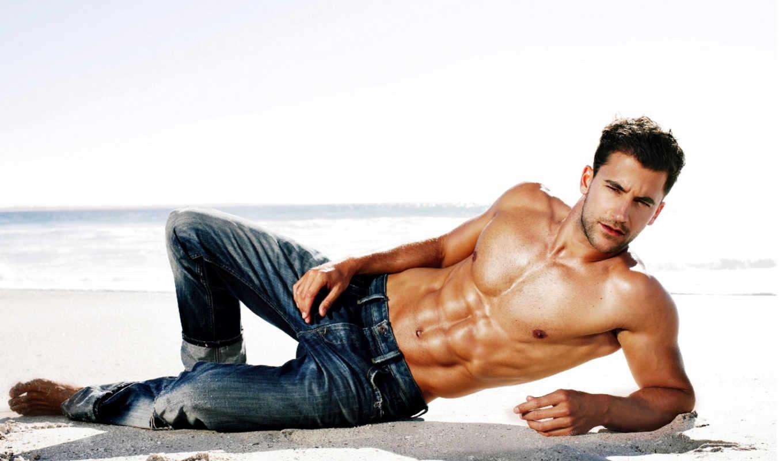 мужик, мужчины, мужчина, women, красивый, воде, море, красивых, survey, песок,