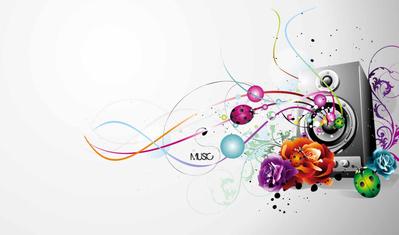музыка, музыки, рисунки, музыке, природа, звучащая, facebook,