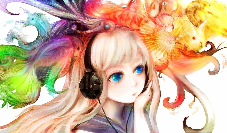 наушниках, anime, девушка, devushki, headphones, philips, арты, animecolors, темы, разные, xiao,