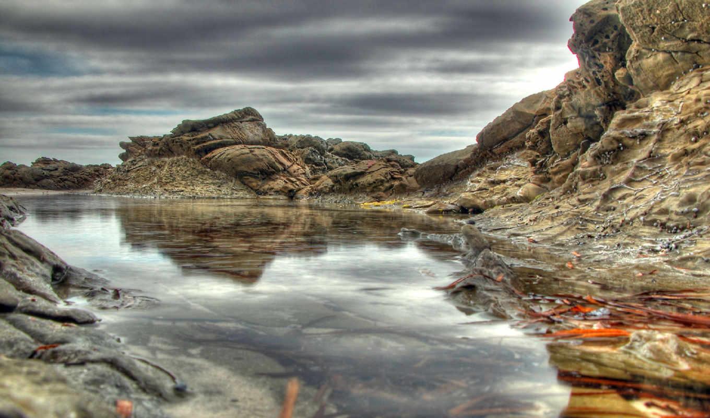 water, clouds, природа, изображение, autumn, зеркало, desktop, pedestals, giant, фабрика, picsfab, islands, картинок,