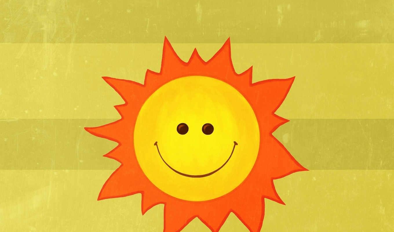 лучи, настроение, солнце, улыбка, радость, минимализм, рисунок, пусть, картинка,