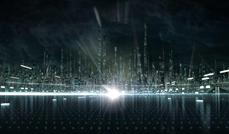 tron, город, наследие, трон, legacy, матрице, графика, this, concept, matrix,