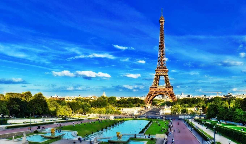башня, эйфелева, париж, париж, франция,