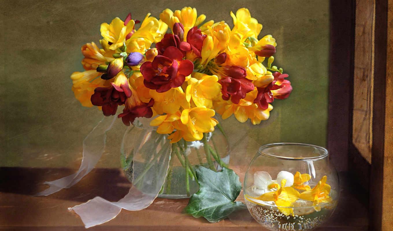 цветы, еще, баллы, букет, ваза, взгляд,