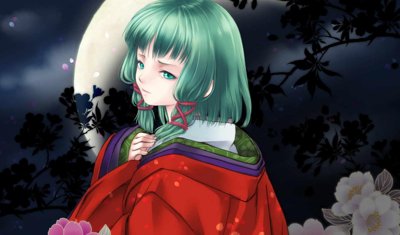 anime, девушка, art, картинка, космос, интерьер, кимоно, моряк,