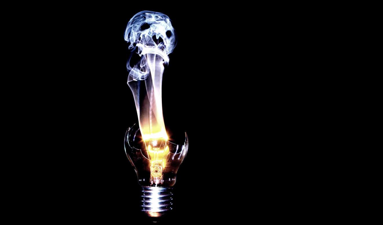 mobile, iphone, картинка, череп, дым, дух, другие, имеет, лампочка, спираль, горизонтали, вертикали,