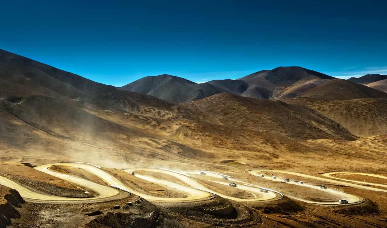 горы, tibet, китай, oblaka, высоком, качестве, базе,