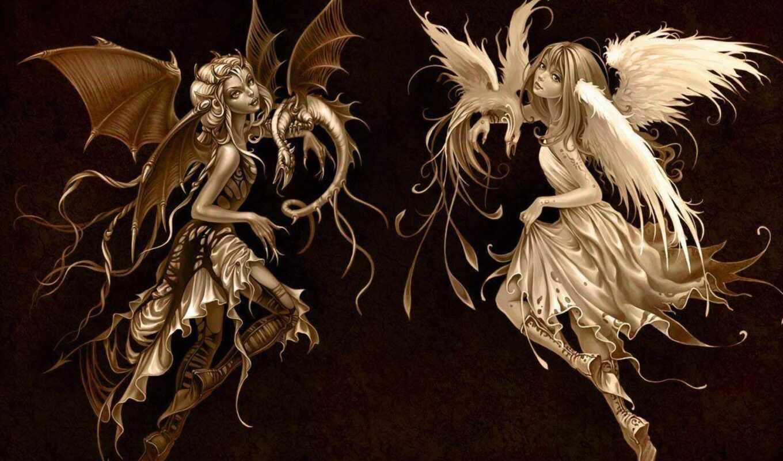 ангелы, демоны, зодиака, знаков, pisces, люди, уязвимы, очень, angel, их, нового,