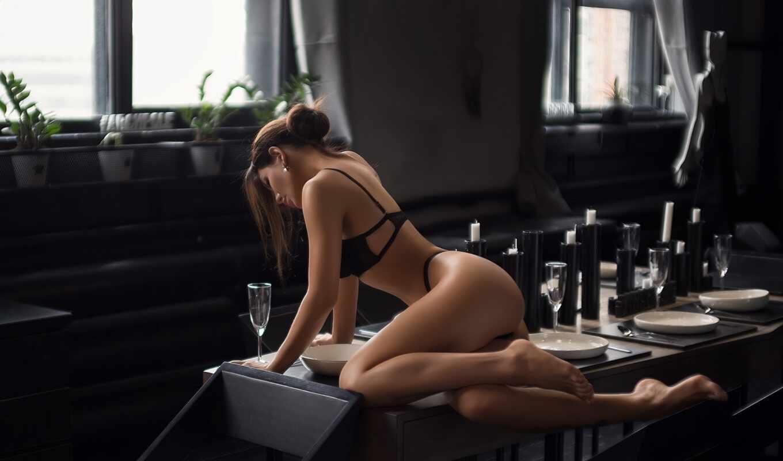 lingerie, motta, женщина, brunette, black, ass, morenon, кресло, столик, squassina, marco