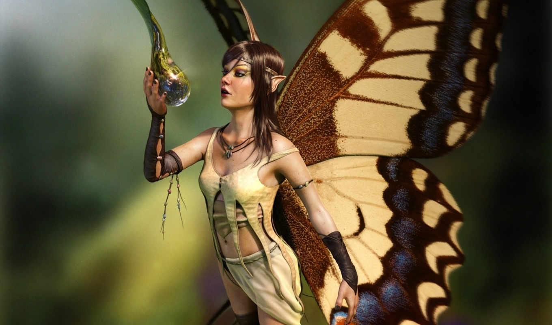 fairy, concept, anime, фэнтези, арта, девушки, цифрового, thirsty, красивые, art,