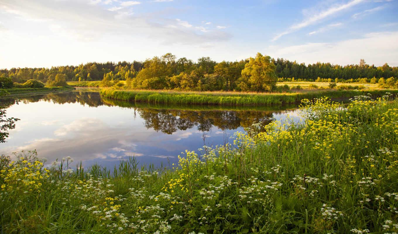 россия, пейзаж, природа, озеро, трава, пейзажи, тверь, горы, природы,
