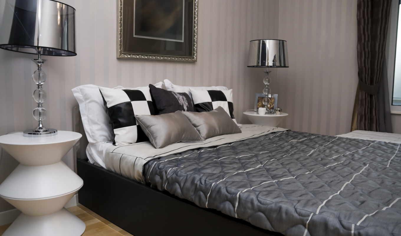 чёрно, interer, белый, dizain, комната, квартира, stil,