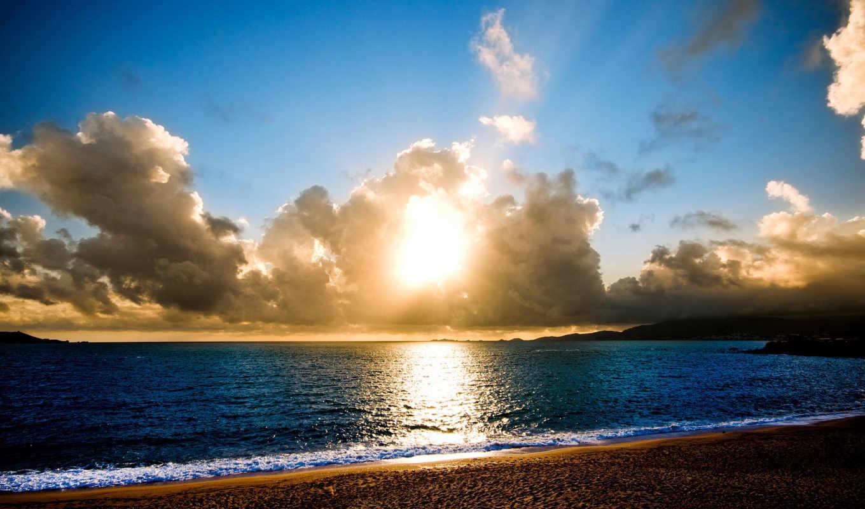 природа, дождь, пляж, море, категории, наши, быстро, palm, тегам, тучи,