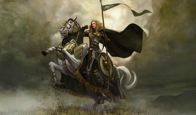 rohana, всадники, властелин, колец, rohan, копья, online, всадников, лошади,