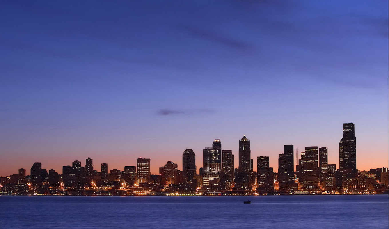 cities, dawn, desktop, screensavers, city, free, night, illumination,