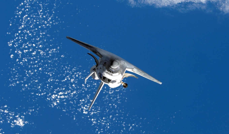 space, shuttle, спейс, океан, земля, облака, полет, шатл,