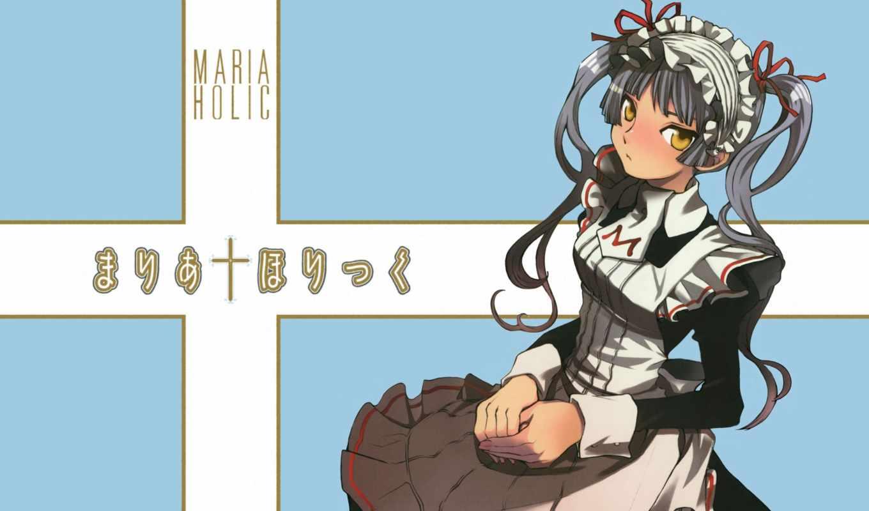 maria, holic, anime, maid, manga,