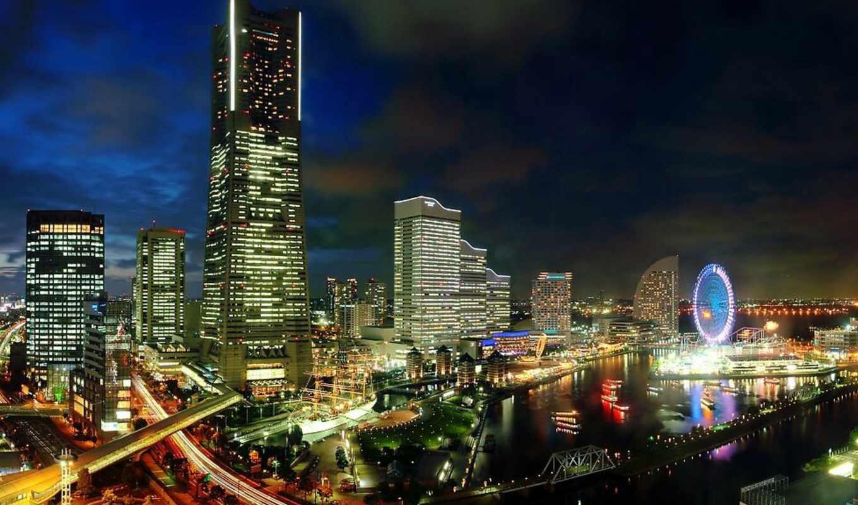 города, теги, город, ночь, огни, singapore, небоскребы,