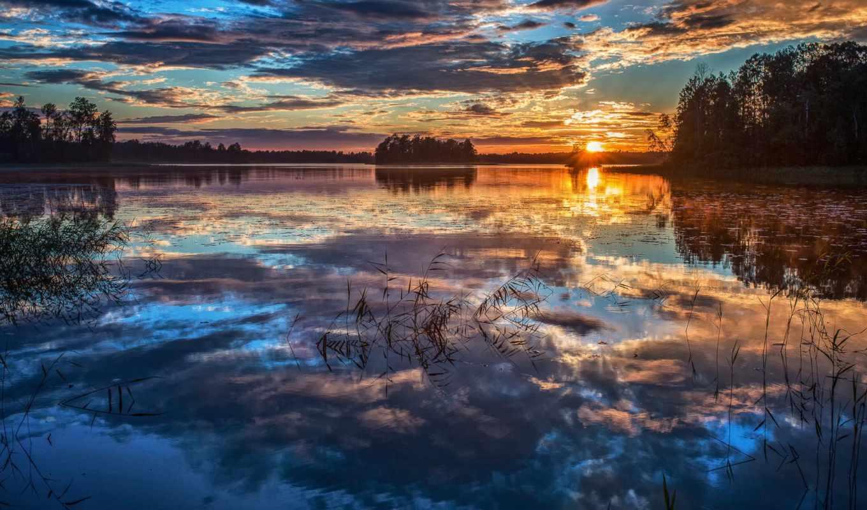 природа, пейзажи -, summer, озеро,