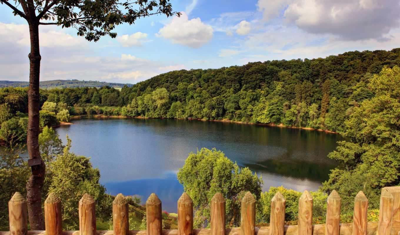 природа, картинка, германия, реки, лес, озеро,