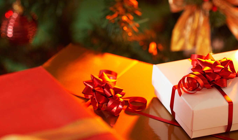 подарки, год, новый, бантик, лента, праздник, елка, новогодние, ленточка, happy, подарок,