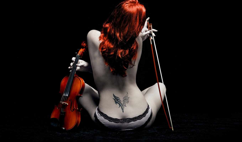 девушка, люди, сексуальная, клипарт, скрипка, скрипкой, со, нижнем, клипарты, музыка, белье,