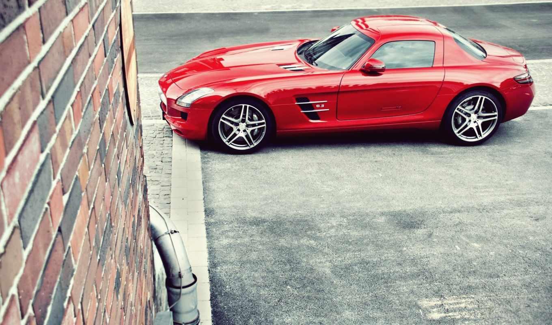 mercedes, benz, amg, red, desktop, парковка, sls, are, served, cars, категория, possible, ultimate, car, pixels,
