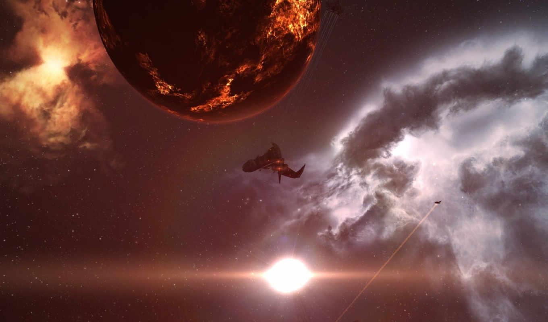 online, ева, nebula, космос, широкоформатные,