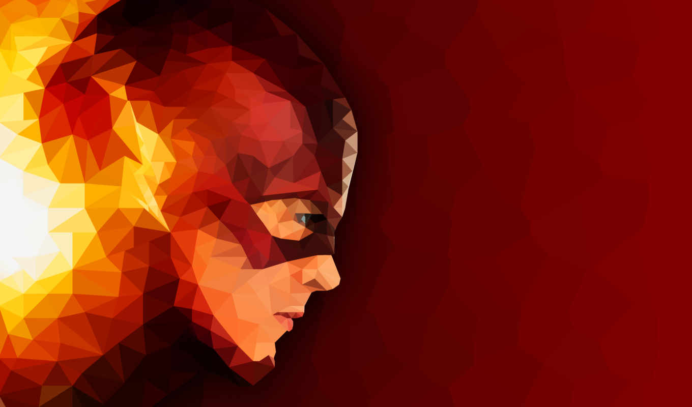 flash, art, pantalla, fondos, resolution, Мозаика, superheroes, geometric,