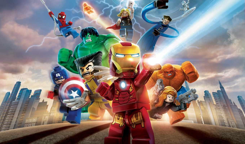 marvel, lego, супер, heroes, avengers, game
