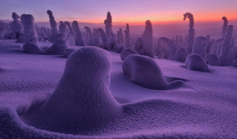 winter, природа, снег, пустыня, landscape, fore, холод, дым