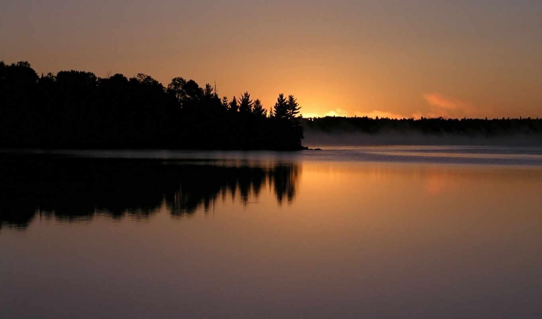 lake, desktop, sunset, dusk, peaceful, save, download, bay, california, tahoe, emerald, free, вечер, природа,