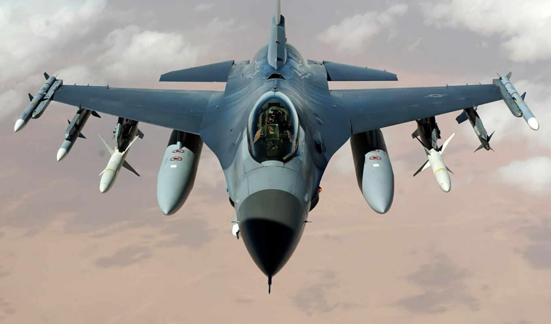 самолёт, истребитель, ракеты, пилот, сша, falcon, многоцелевой, сражающийся, ввс, бомбы, авиация, красивые,