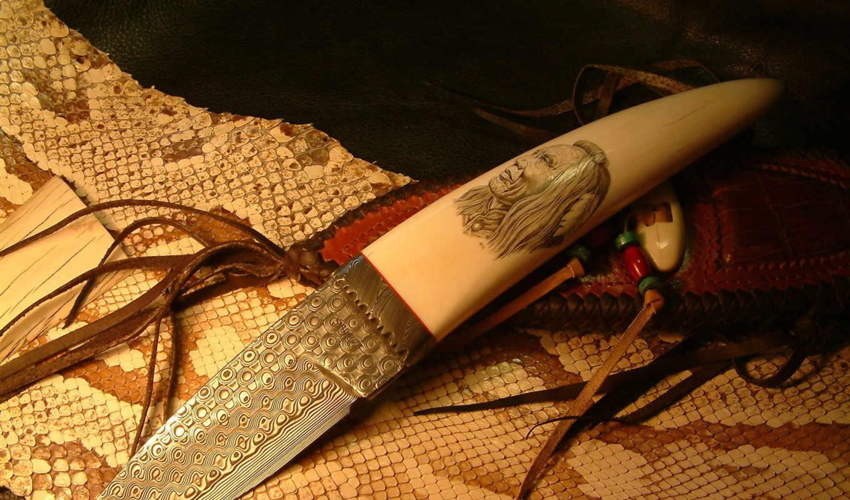 нож, холодное, оружие, лезвие, рукоять, кость, кожа, индеец, картинку, картинка, правой, кнопкой,