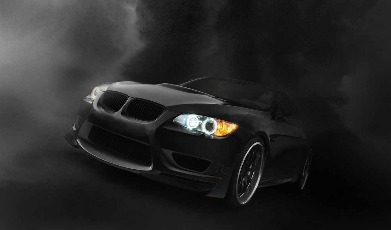 bmw, black, огни, бмв, car,