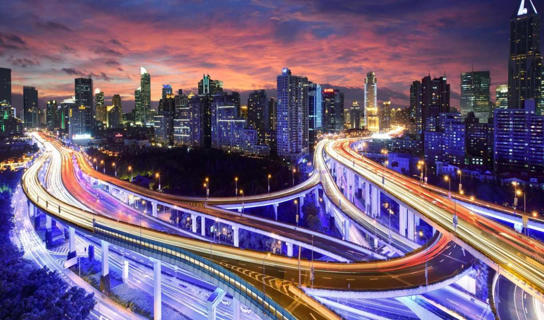 hong, kong, china, город, азия, ночь, кнр, картинка,