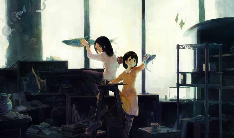 anime, fantasy, кот, pictures, pantalla,