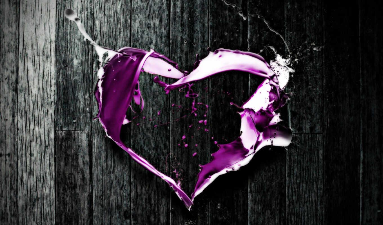 love, purple, heart, valentine, abstract, day, digital,