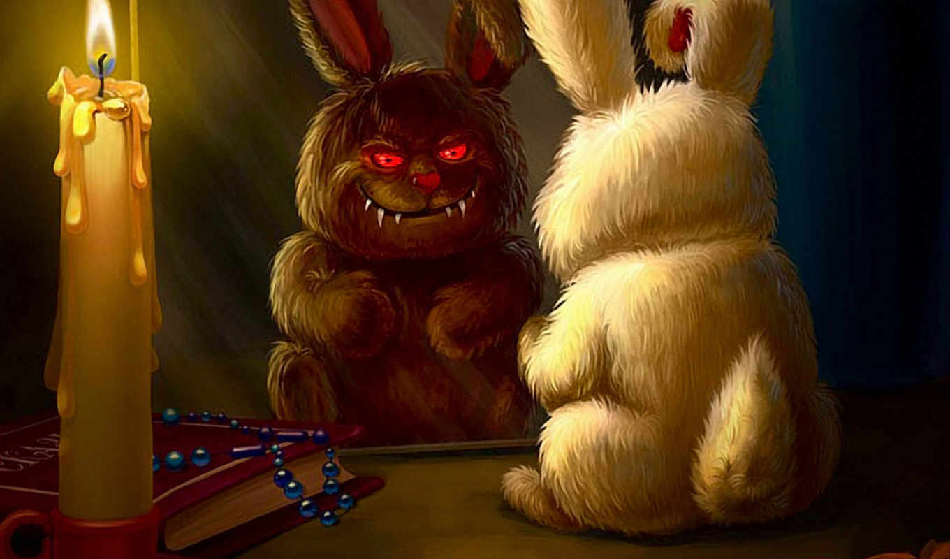 funny, desktop, демотиваторы, bunny, dark, الصورة, images, computer, photos, юмор, side,