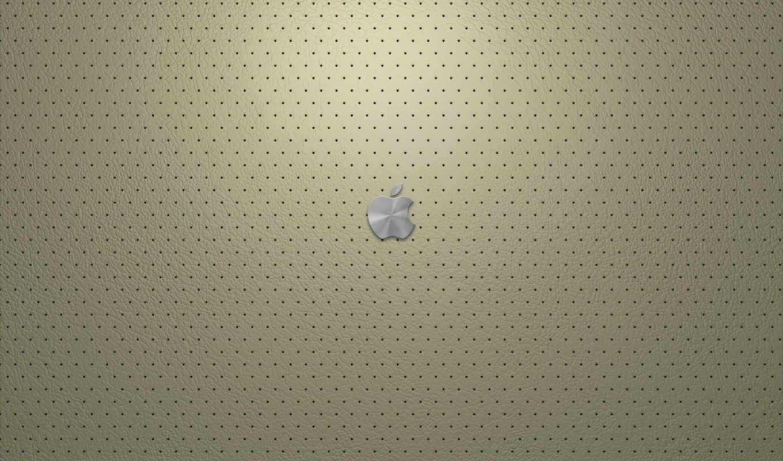 apple, металл, лого, кожа, фон